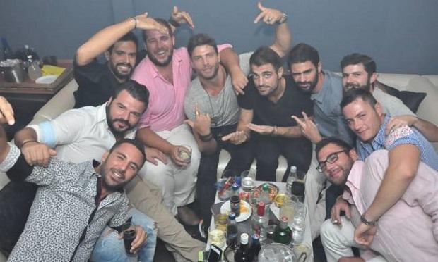 Γιώργος Μανίκας bachelor party Ρομεο